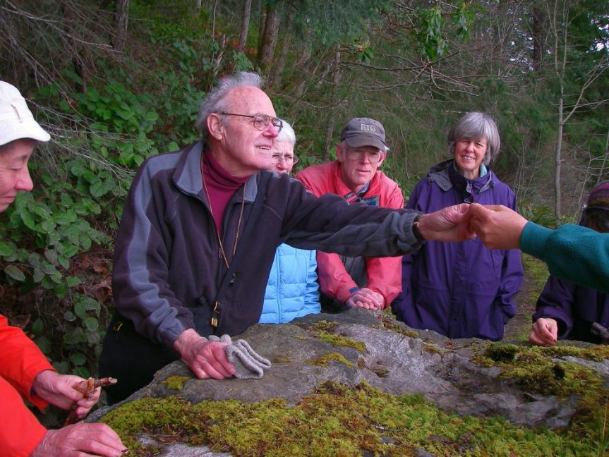 Wilf Schofield, bryophytes field-trip, Powell River - H. Harbord