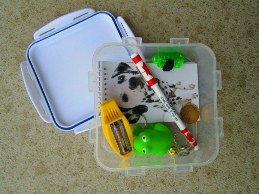 This is what a geocache actually looks like - P. Clements photo