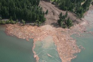 Mudslide near Johnson's Landing, BC
