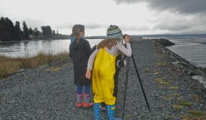 I was really amused to see how quickly these young ladies became proficient with using a spotting scope. - A. Bryant photo