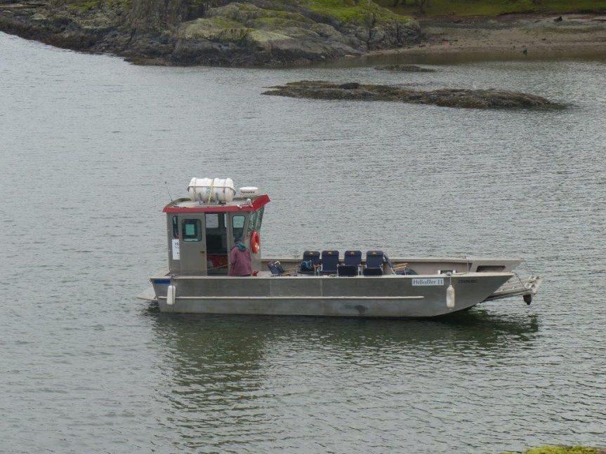 Two landings on Jedediah Island