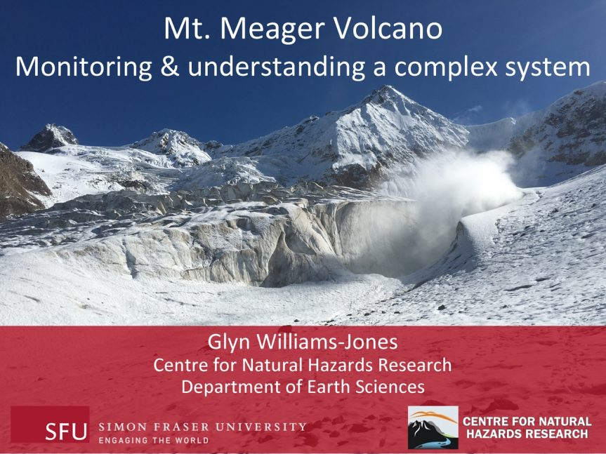 "Glyn Williams-Jones – ""Mt. Meager Volcano"""